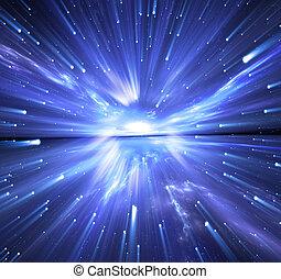 stars., 反り, スペース, 旅行, 時間