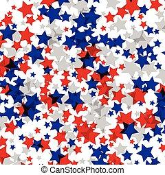 stars., 飾られる, ベクトル, 背景, 手ざわり