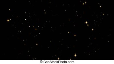stars., 4k, année, noël, doré, toile de fond, cérémonie, ...
