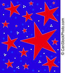 Stars Abound Red White Blue