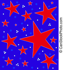 Stars Abound Red White Blue
