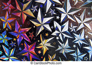 stars abstract black and white and blue background