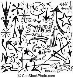 stars and arrows icons