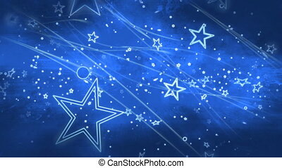 Stars and blue CG abstract looping background