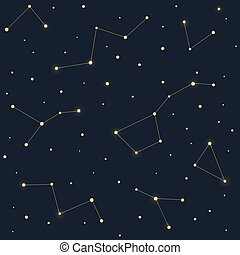Stars and constellations pattern - Constellations seamless...