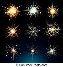 Stars and Flashes - Brightly Stars, Flashes, Fireworks,...