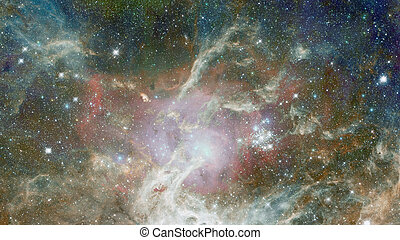 Stars and galaxies in outer space showing the beauty of space exploration. Elements of this image furnished by NASA
