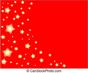 stars and red backgroun