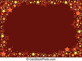Stars And Red Background