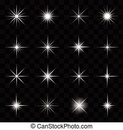 Stars and Sparkles Collection - Vector illustration of stars...