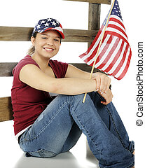 stars-and-stripes, adolescent