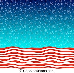Stars and stripes american flag styled vector background