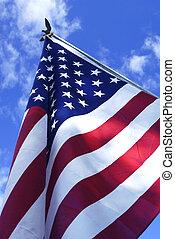Stars and Stripes - an American flag against a blue sky