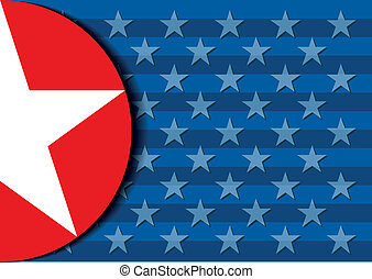 detailed illustration of a stars and stripes background, eps 10 vector