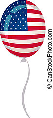 Stars and stripes balloon for Fourth of July