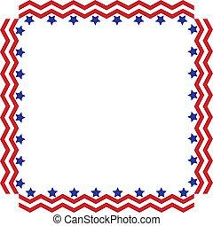 Stars and Stripes Border or Frame - Square box frame made of...