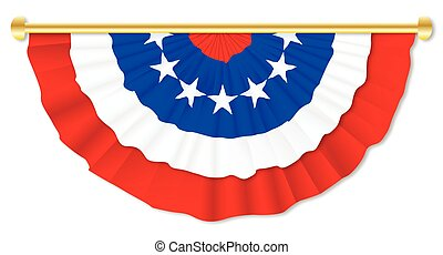 Stars and Stripes Bunting - Red white and blue independence...