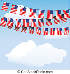 Stars and Stripes bunting flags - Stars and Stripesbunting...