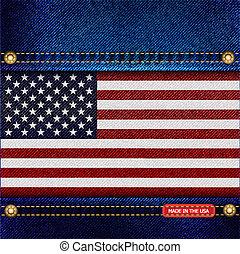Stars and Stripes denim - Stars and Stripes motif of denim...
