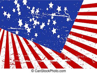 Editable grunge vector illustration of stars and stripes