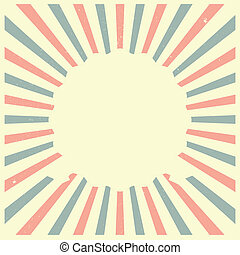 Stars and Stripes frame - detailed illustration of an empty...