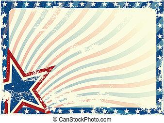 Stars and Stripes grunge background - detailed illustration...