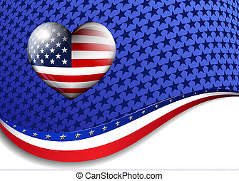 Stars and Stripes Heart Icon