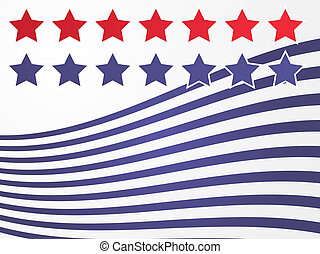 Stars and stripes illustration USA flag abstract...