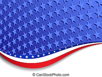 Stars and Stripes Landscape - A large patriotic background...