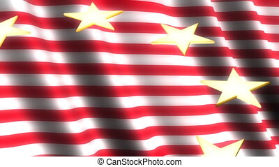 Stars and Stripes Loop - Looping Animated Background