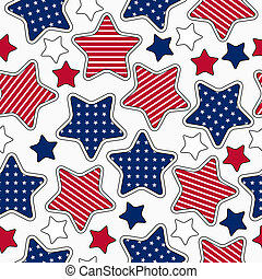Stars and stripes pattern - American stars and stripes...