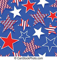 Stars and stripes seamless pattern