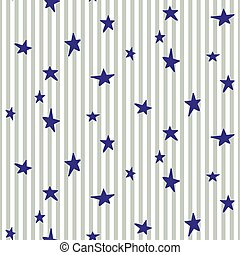 Stars and stripes seamless vector pattern. Baby bed linen...