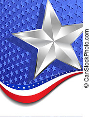 Stars and Stripes Silver Star - A large patriotic background...