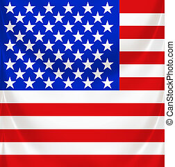 stars and stripes square draped
