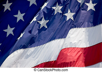 Stars and Stripes - Tightly cropped photo of an American...