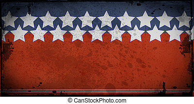Stars and stripes US background - Retro style framed...