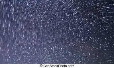 Stars around the pole star. TimeLapse