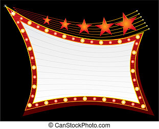 Stars at neon - Blank neon sign with stars on top