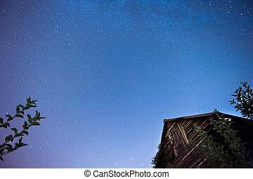 Stars at night sky