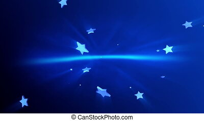 3d render stars background.