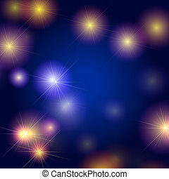 stars background in blue