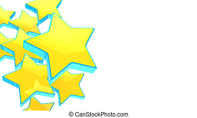 stars background - 3d illustration of yellow stars...