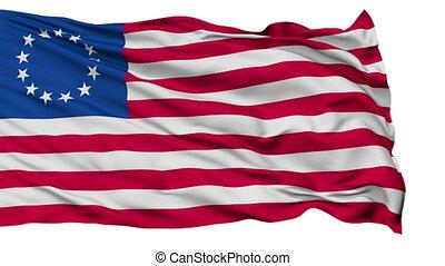 Stars Betsy Ross USA Isolated Waving Flag