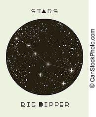 Stars Big Dipper Design Illustration - Abstract Illustration...