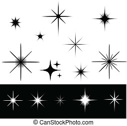 Black and white stars