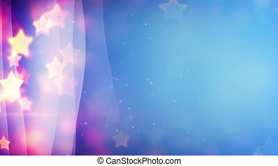 stars bokeh lights and curved lines