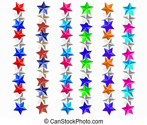 Stars borders 6 colors