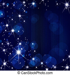 Stars brust  on  motion blue  blur ray abstract background