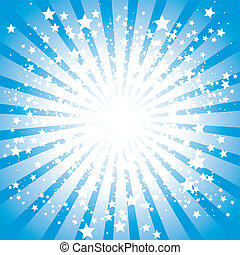 Stars burst - Abstract stars burst in blue, vector...